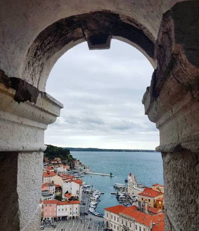 Views from the bell tower in Piran